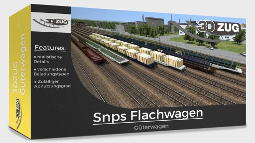 3DZUG Snps Flat-Wagons