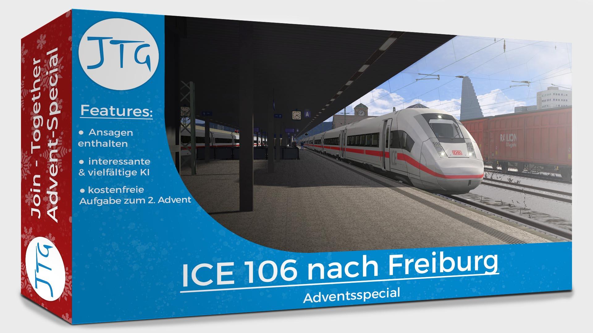 JTG - ICE 106 to Freiburg - Free scenario for the 2. Advent